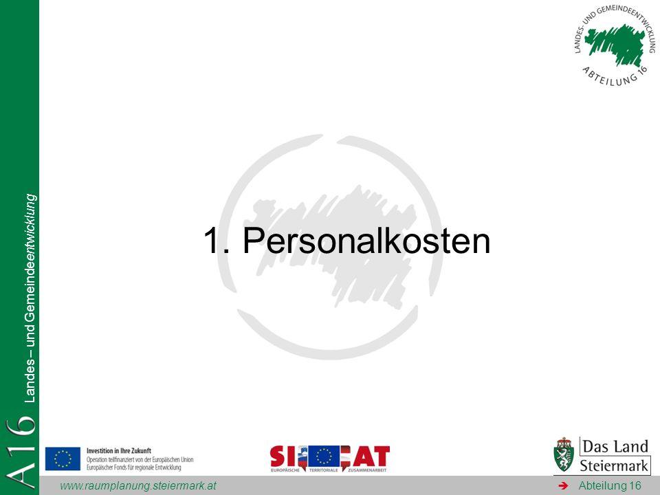 1. Personalkosten