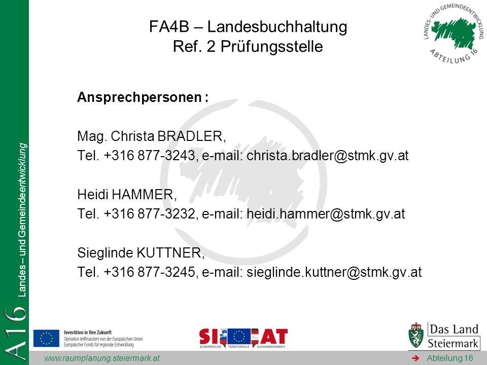 FA4B – Landesbuchhaltung Ref. 2 Prüfungsstelle