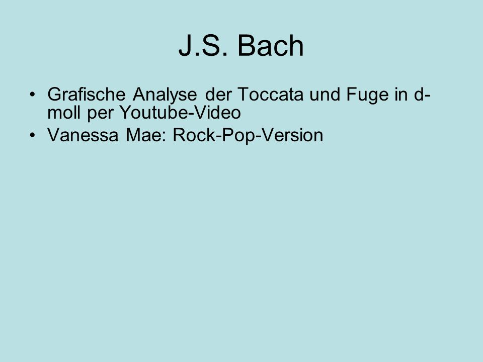 J.S. Bach Grafische Analyse der Toccata und Fuge in d-moll per Youtube-Video.