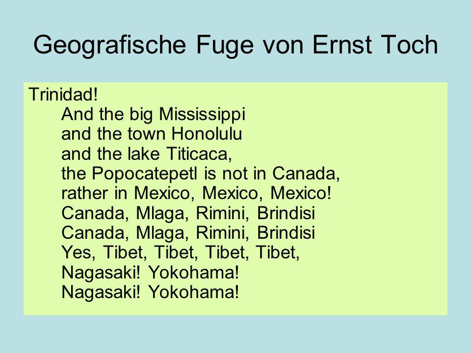Geografische Fuge von Ernst Toch