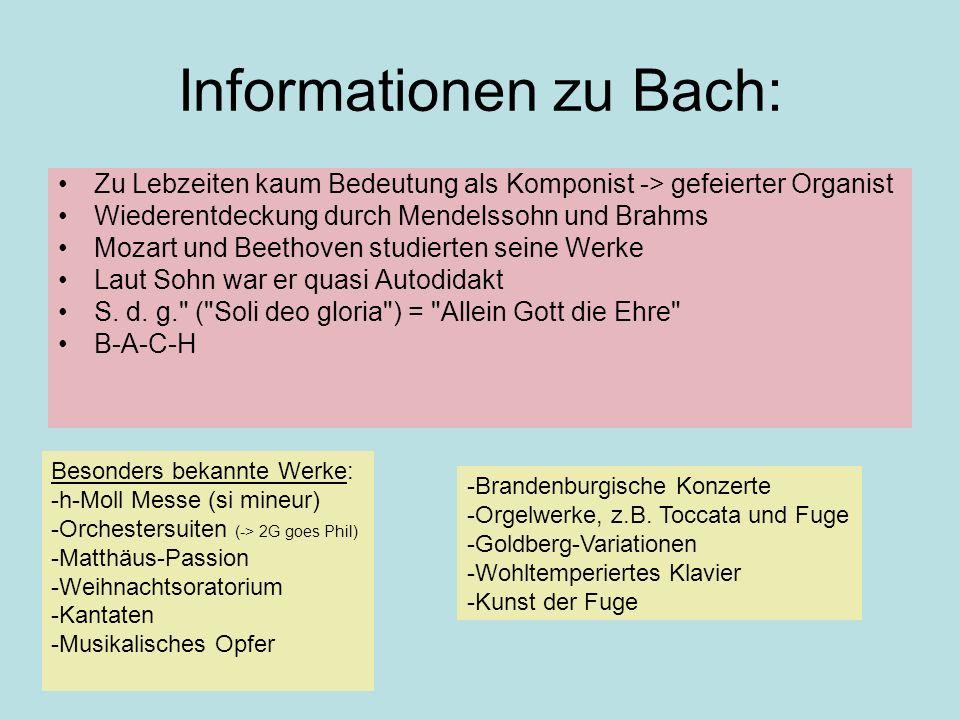Informationen zu Bach: