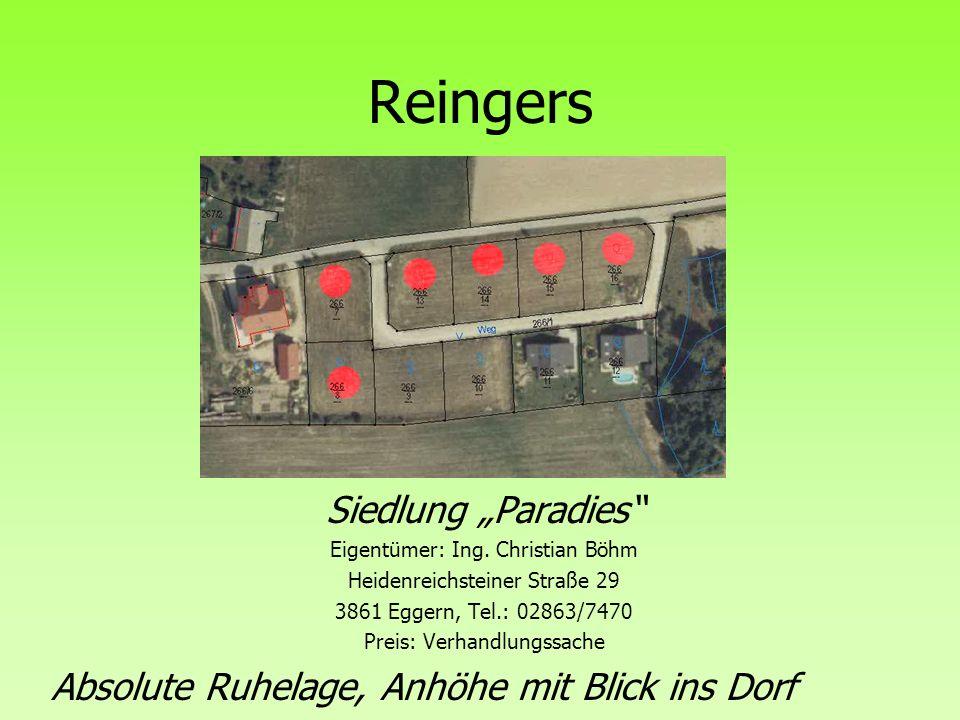 "Reingers Siedlung ""Paradies"