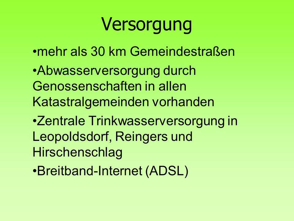 Versorgung mehr als 30 km Gemeindestraßen
