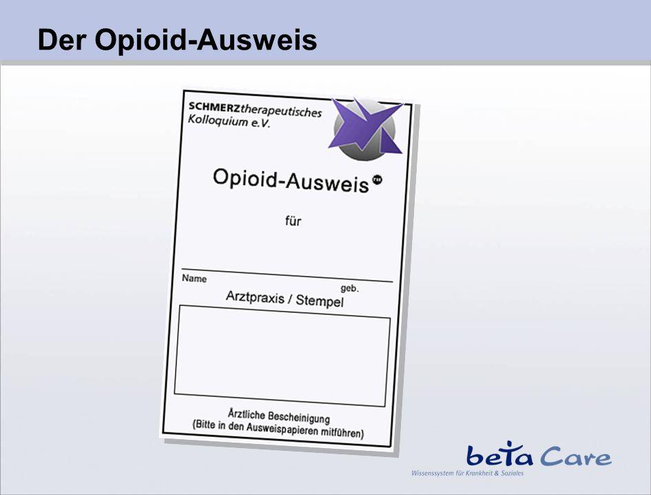 Der Opioid-Ausweis Der Opioid-Ausweis