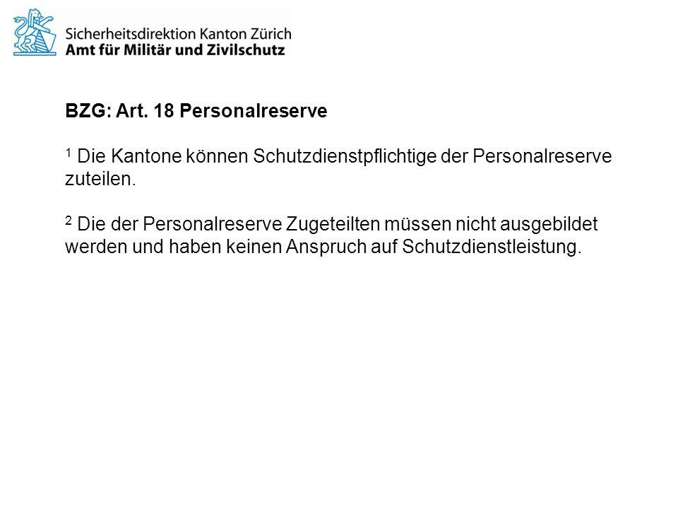 BZG: Art. 18 Personalreserve