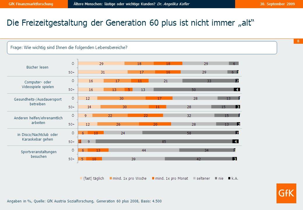 """Die Freizeitgestaltung der Generation 60 plus ist nicht immer """"alt"""