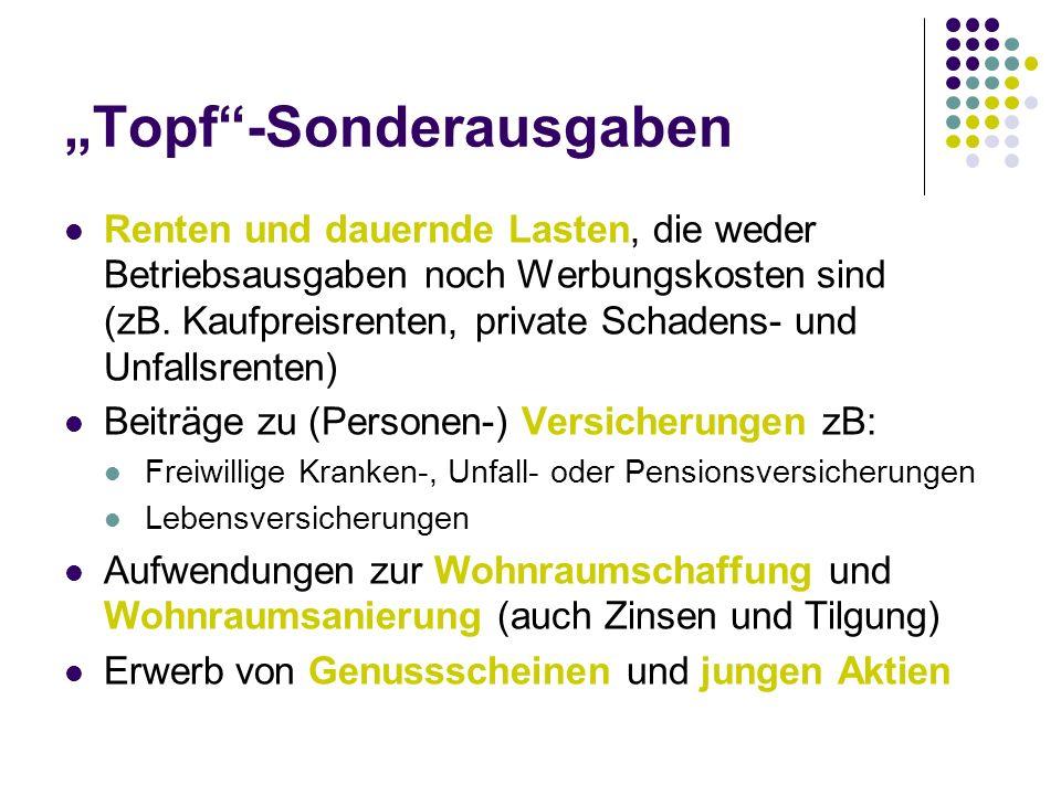 """Topf -Sonderausgaben"