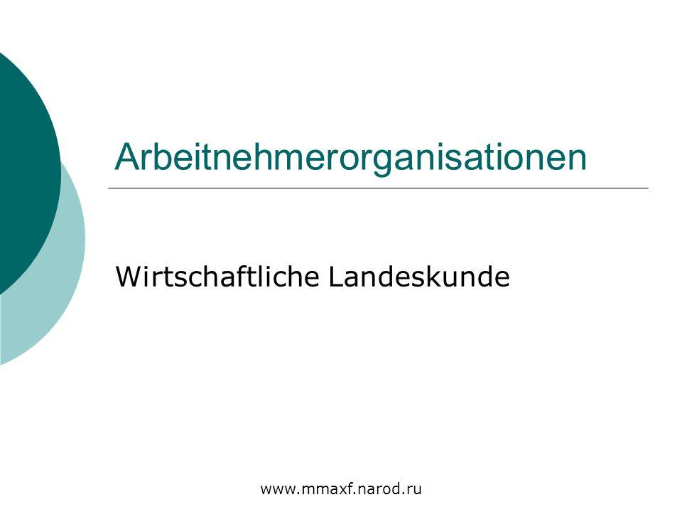Arbeitnehmerorganisationen