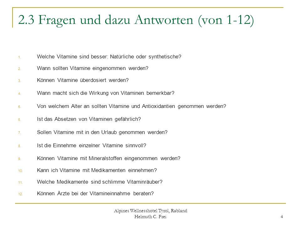 2.3 Fragen und dazu Antworten (von 1-12)