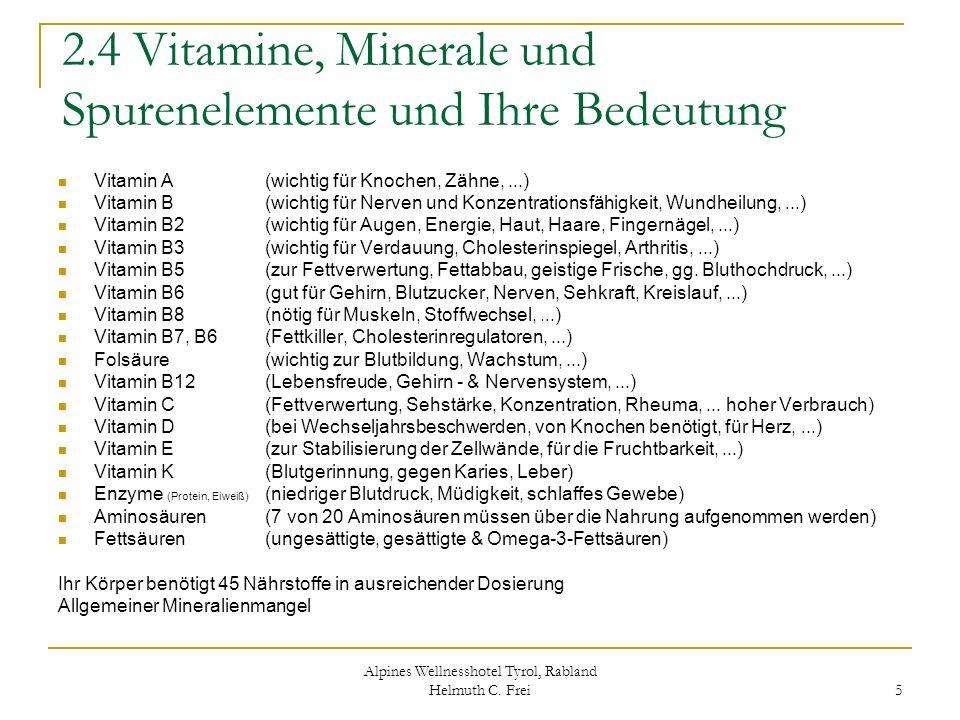 2.4 Vitamine, Minerale und Spurenelemente und Ihre Bedeutung