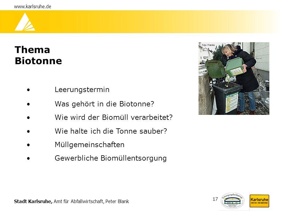 Thema Biotonne Leerungstermin Was gehört in die Biotonne