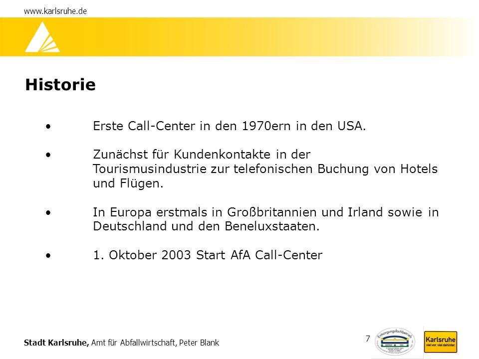 Historie Erste Call-Center in den 1970ern in den USA.