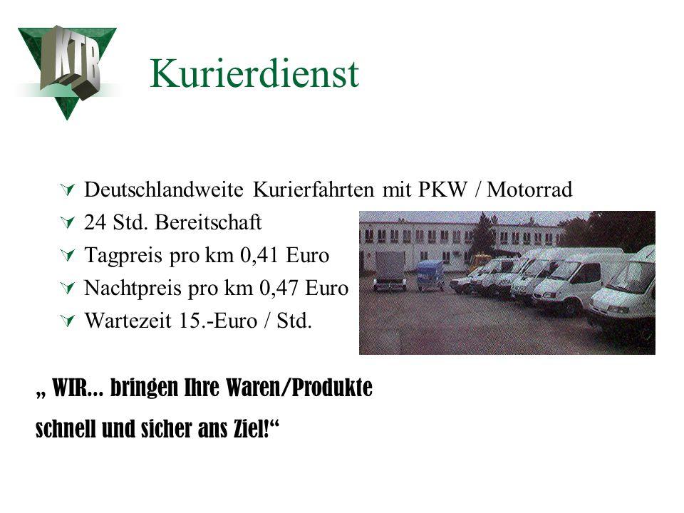 Kurierdienst KTB Deutschlandweite Kurierfahrten mit PKW / Motorrad