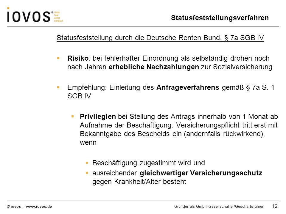 Statusfeststellungsverfahren