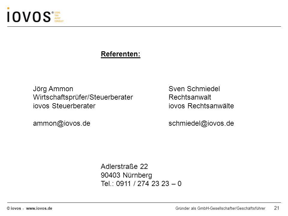 Jörg Ammon Sven Schmiedel Wirtschaftsprüfer/Steuerberater Rechtsanwalt