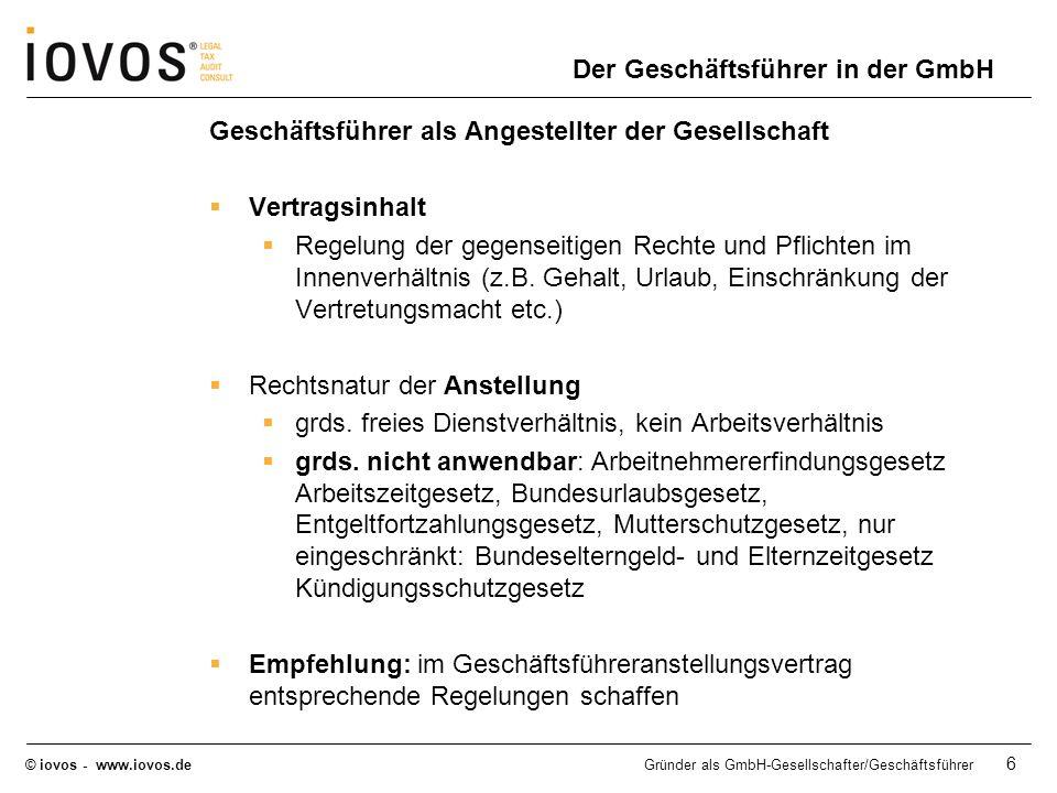Der Geschäftsführer in der GmbH