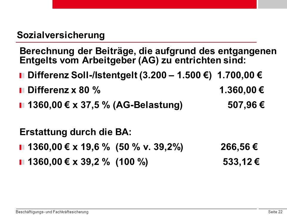 Differenz Soll-/Istentgelt (3.200 – 1.500 €) 1.700,00 €