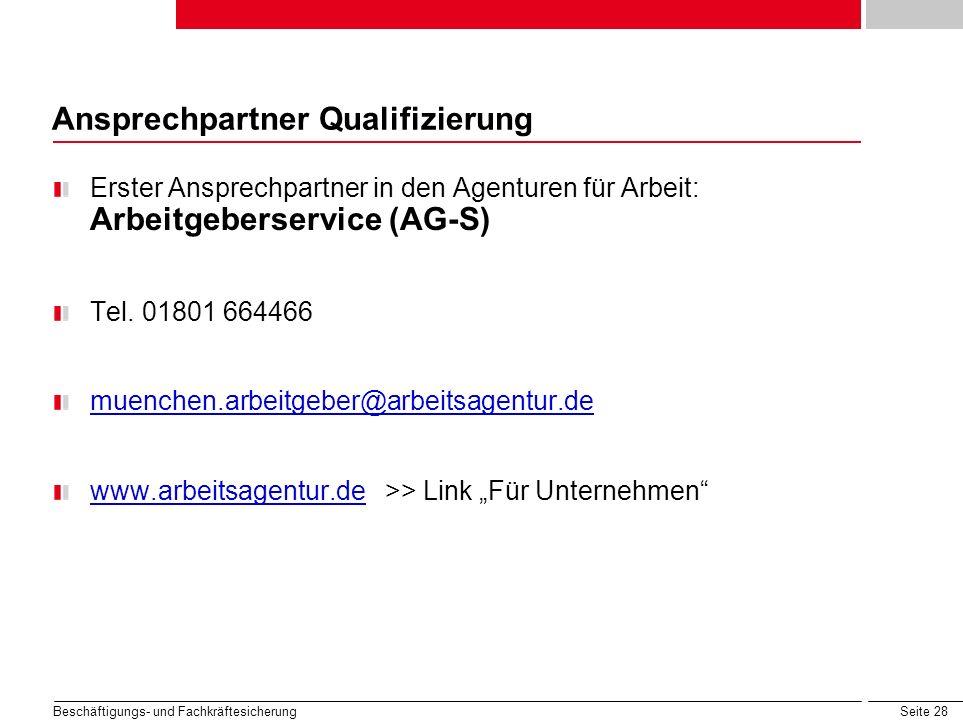 Ansprechpartner Qualifizierung
