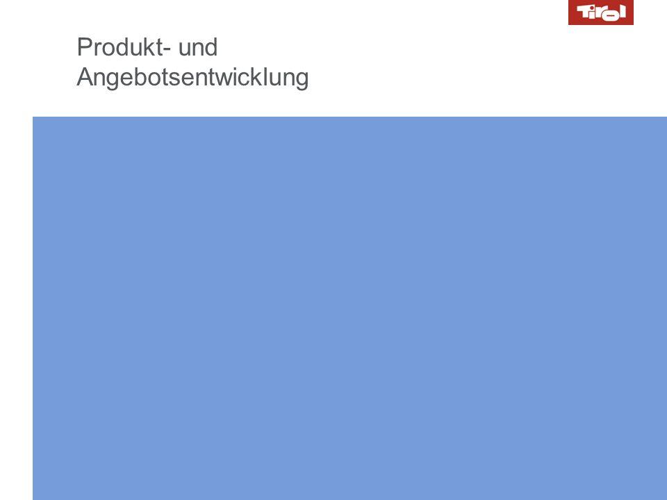 Produkt- und Angebotsentwicklung