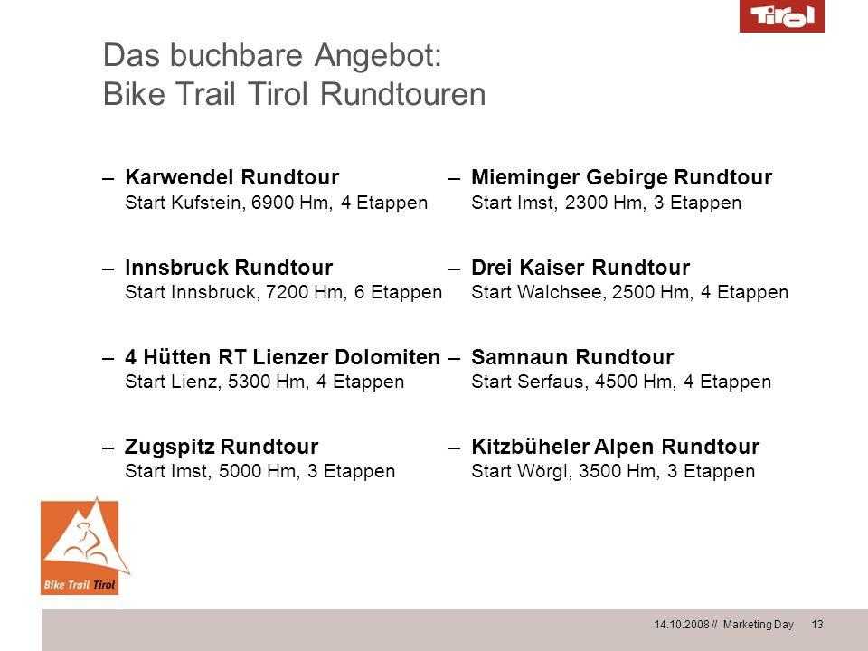 Das buchbare Angebot: Bike Trail Tirol Rundtouren
