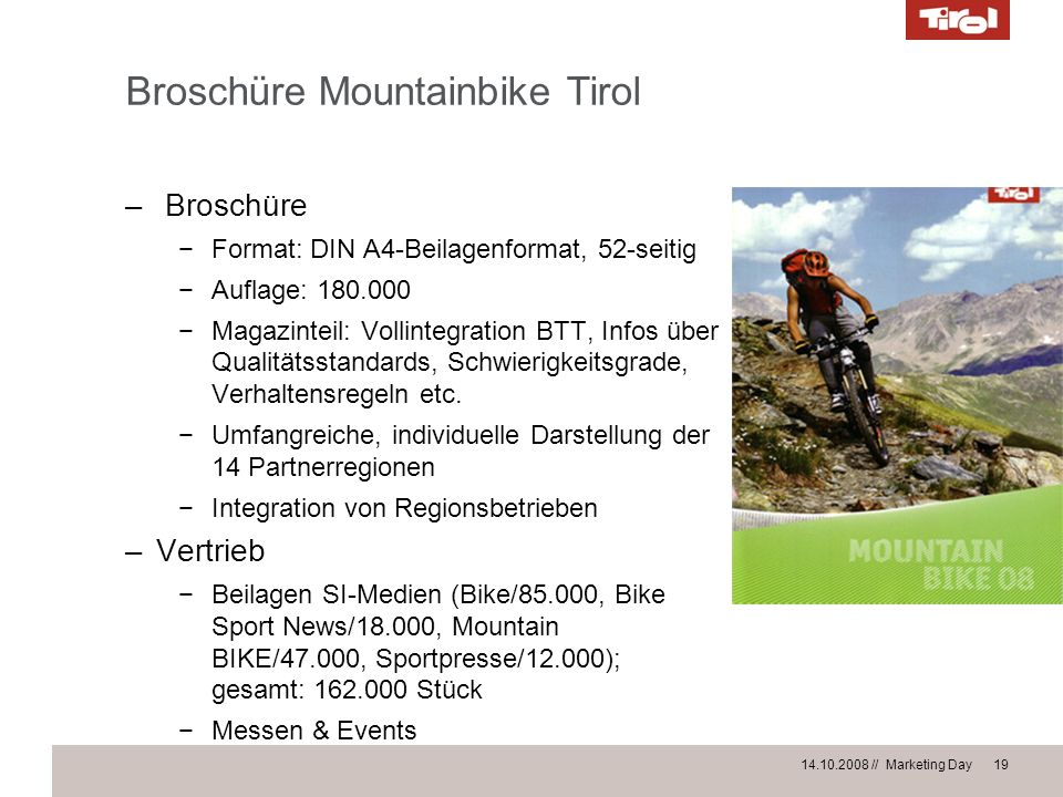 Broschüre Mountainbike Tirol