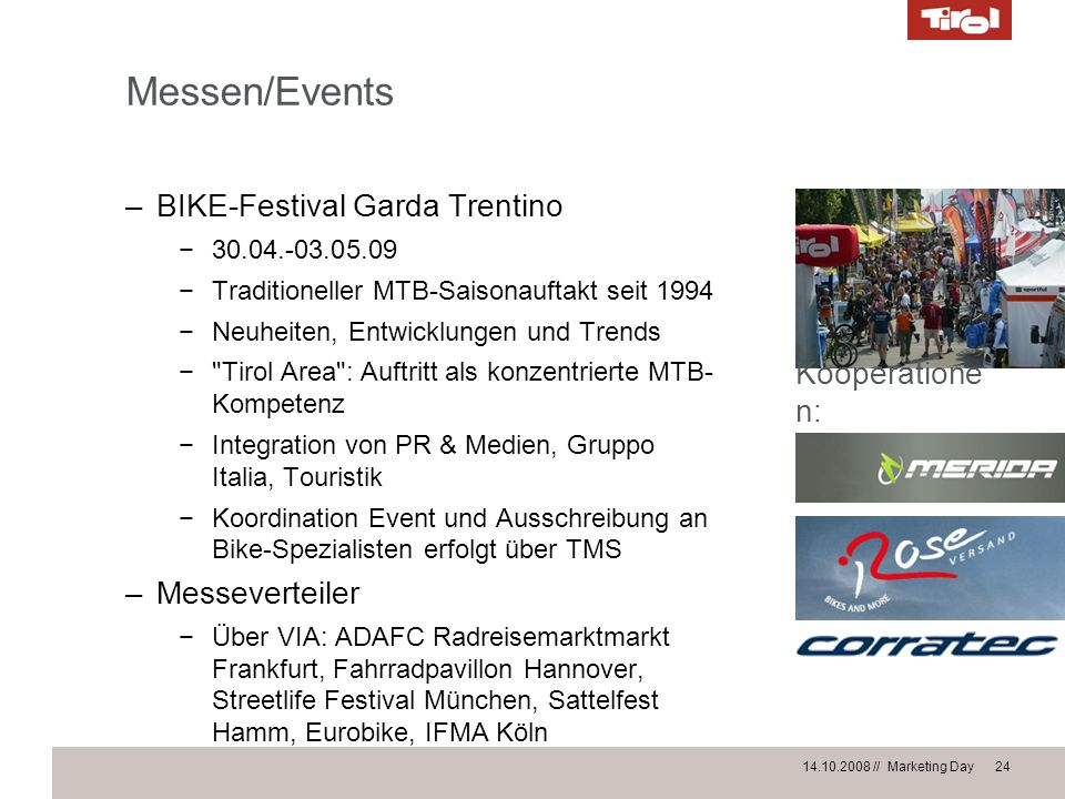 Messen/Events BIKE-Festival Garda Trentino Kooperationen: