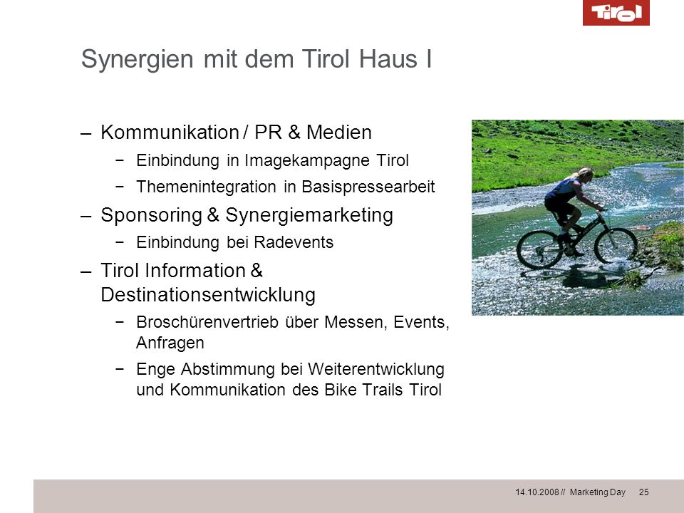 Synergien mit dem Tirol Haus I