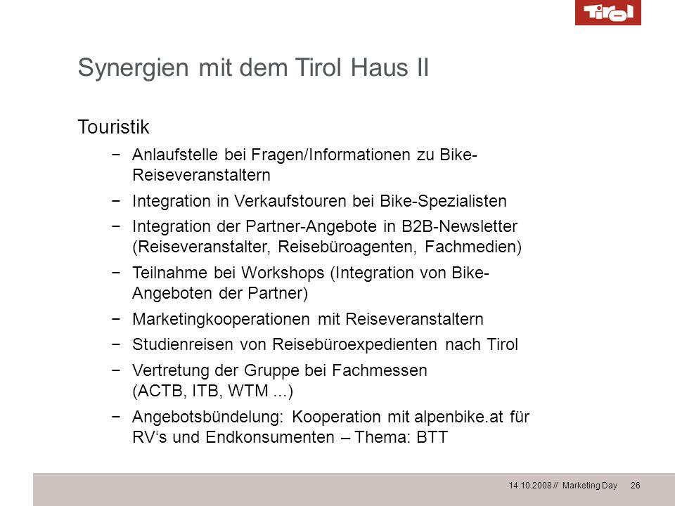 Synergien mit dem Tirol Haus II