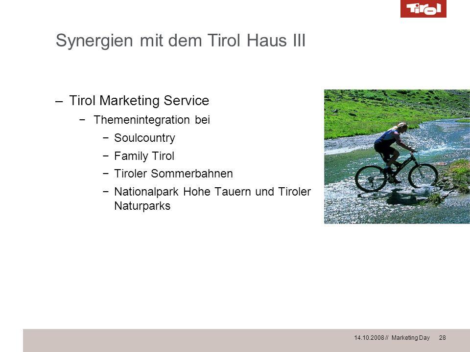 Synergien mit dem Tirol Haus III
