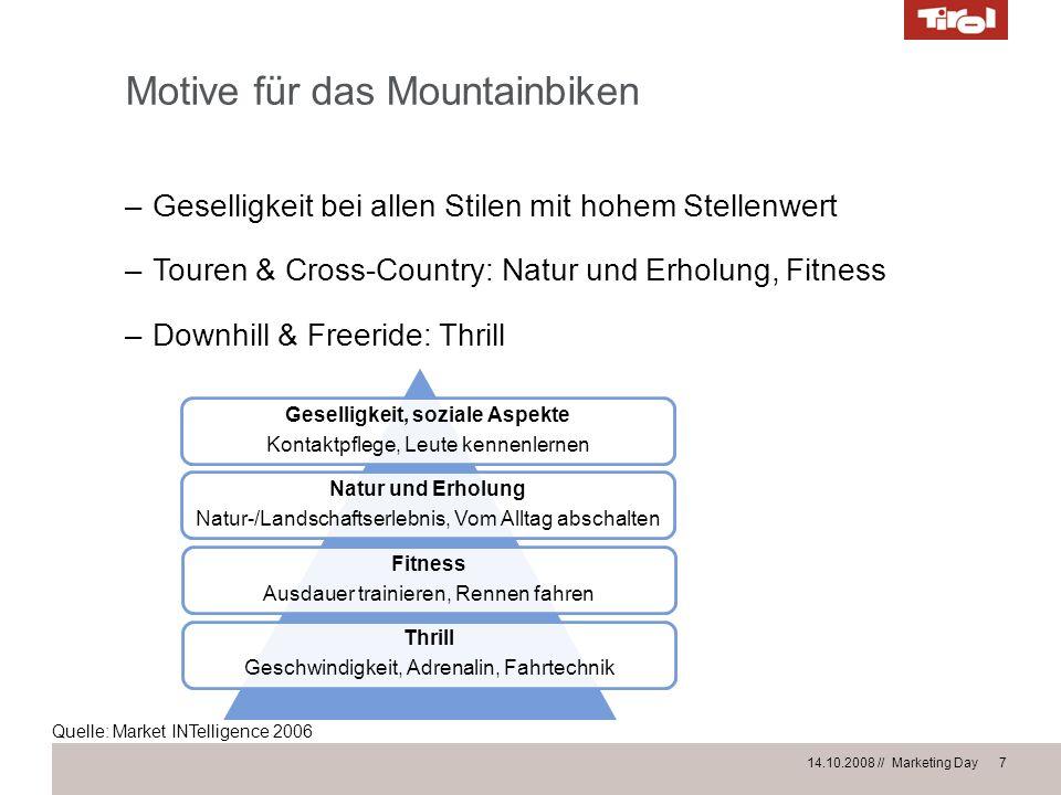 Motive für das Mountainbiken