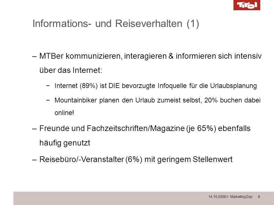 Informations- und Reiseverhalten (1)