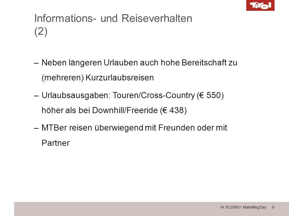 Informations- und Reiseverhalten (2)