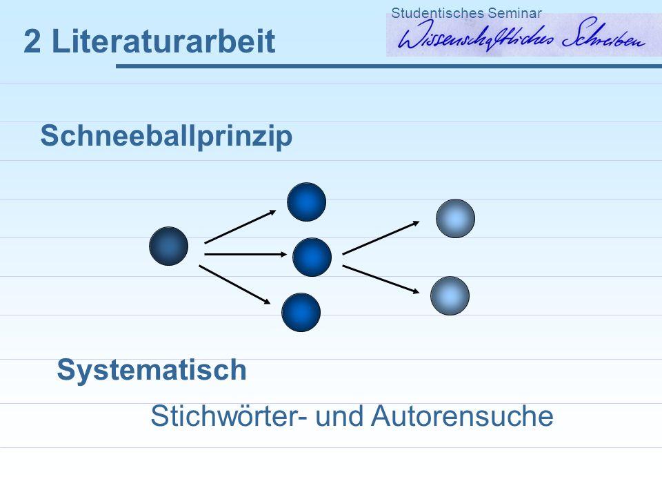 2 Literaturarbeit Schneeballprinzip Systematisch