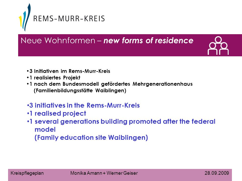 Neue Wohnformen – new forms of residence