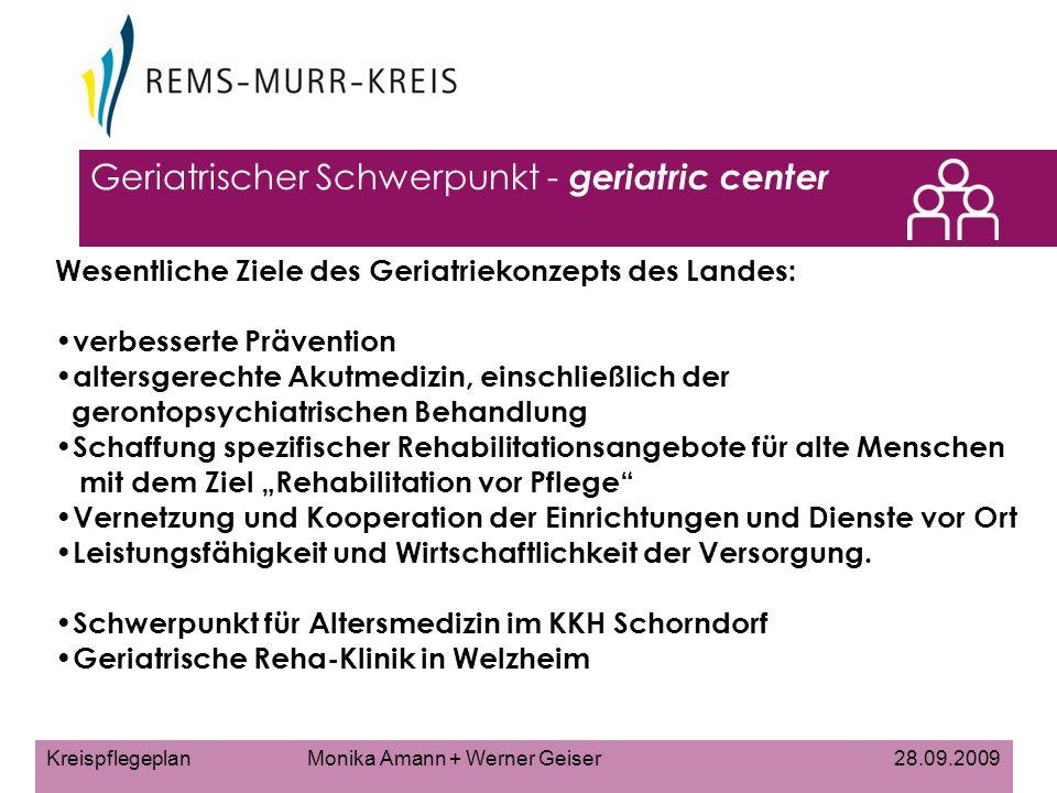 Geriatrischer Schwerpunkt - geriatric center