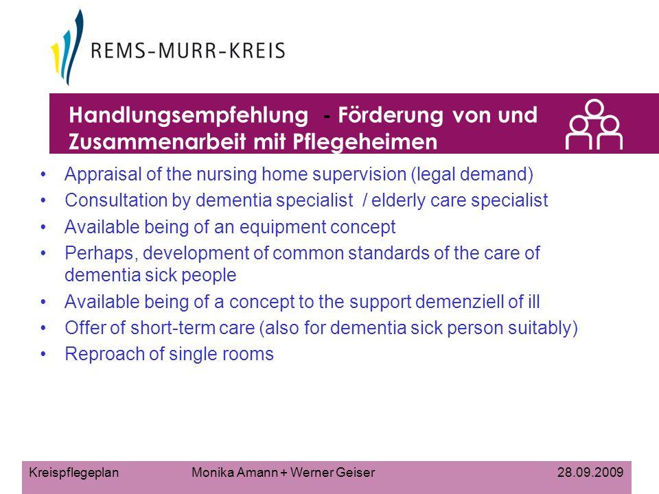 Handlungsempfehlung - Förderung von und Zusammenarbeit mit Pflegeheimen