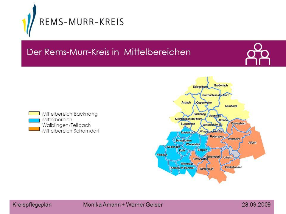Der Rems-Murr-Kreis in Mittelbereichen