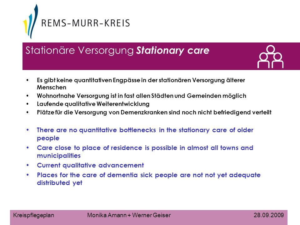 Stationäre Versorgung Stationary care
