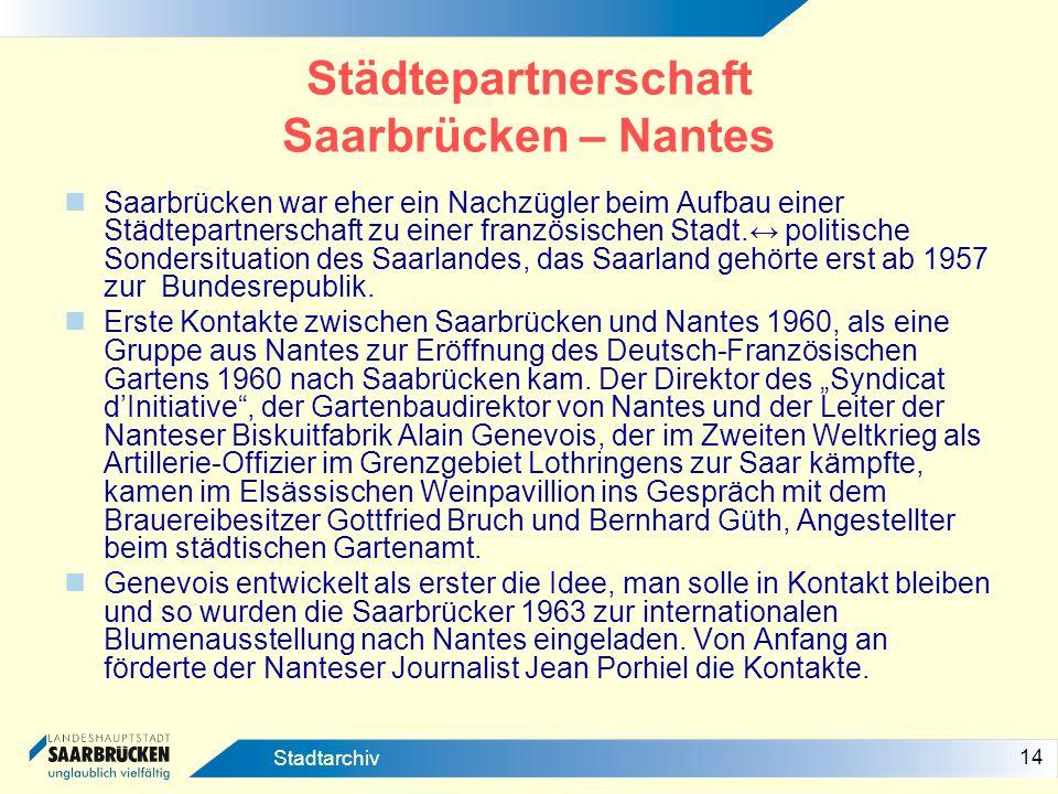 Städtepartnerschaft Saarbrücken – Nantes