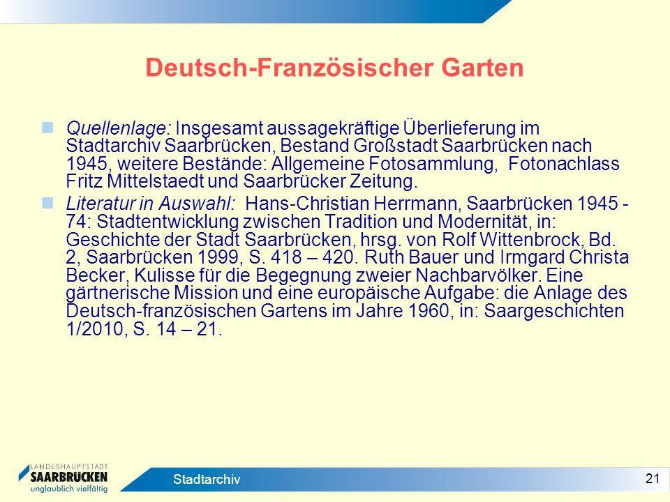 Deutsch-Französischer Garten
