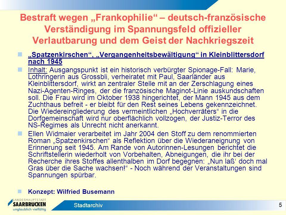 """Bestraft wegen """"Frankophilie – deutsch-französische Verständigung im Spannungsfeld offizieller Verlautbarung und dem Geist der Nachkriegszeit"""