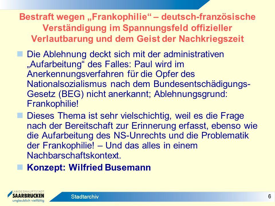 Konzept: Wilfried Busemann