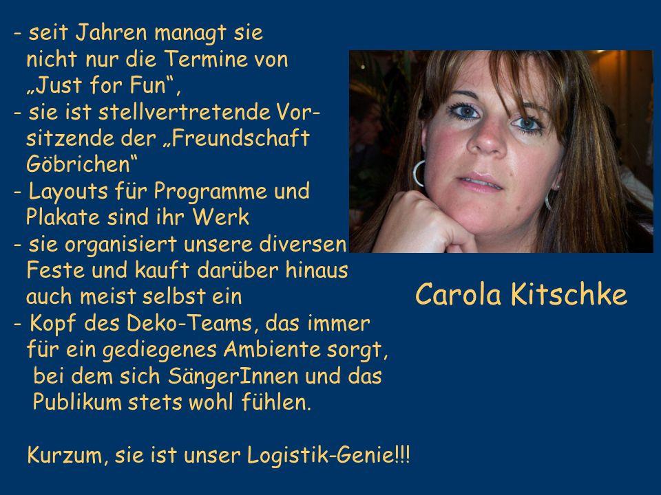 Carola Kitschke - seit Jahren managt sie nicht nur die Termine von