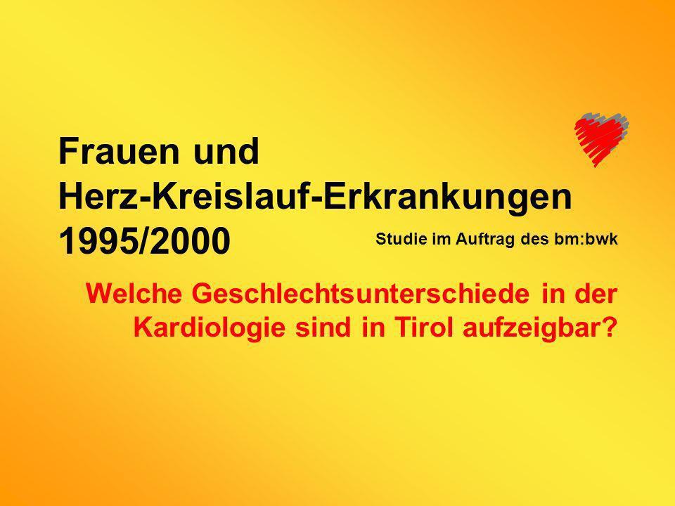 Frauen und Herz-Kreislauf-Erkrankungen 1995/2000