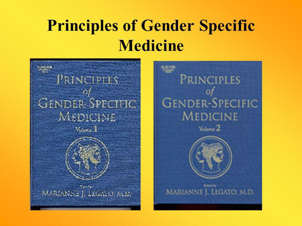 Principles of Gender Specific Medicine