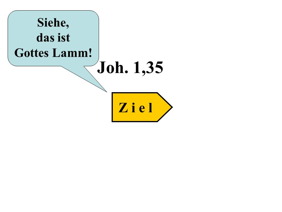 Siehe, das ist Gottes Lamm! Joh. 1,35 Z i e l