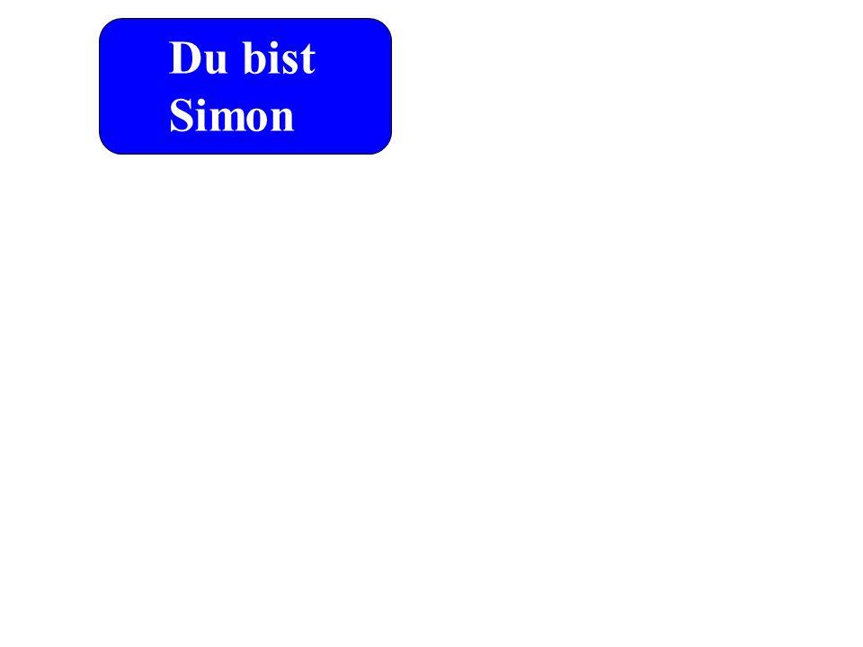 Du bist Simon Du sollst Fels heißen