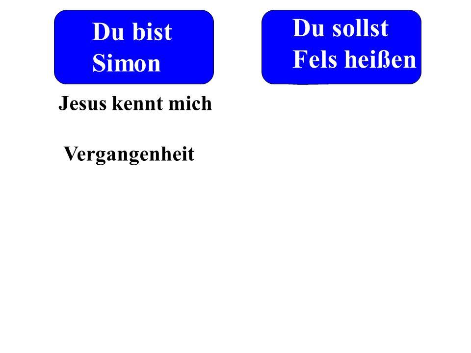 Du sollst Fels heißen Du bist Simon Jesus kennt mich Vergangenheit