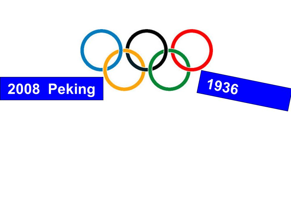 2008 Peking 1936 Berlin