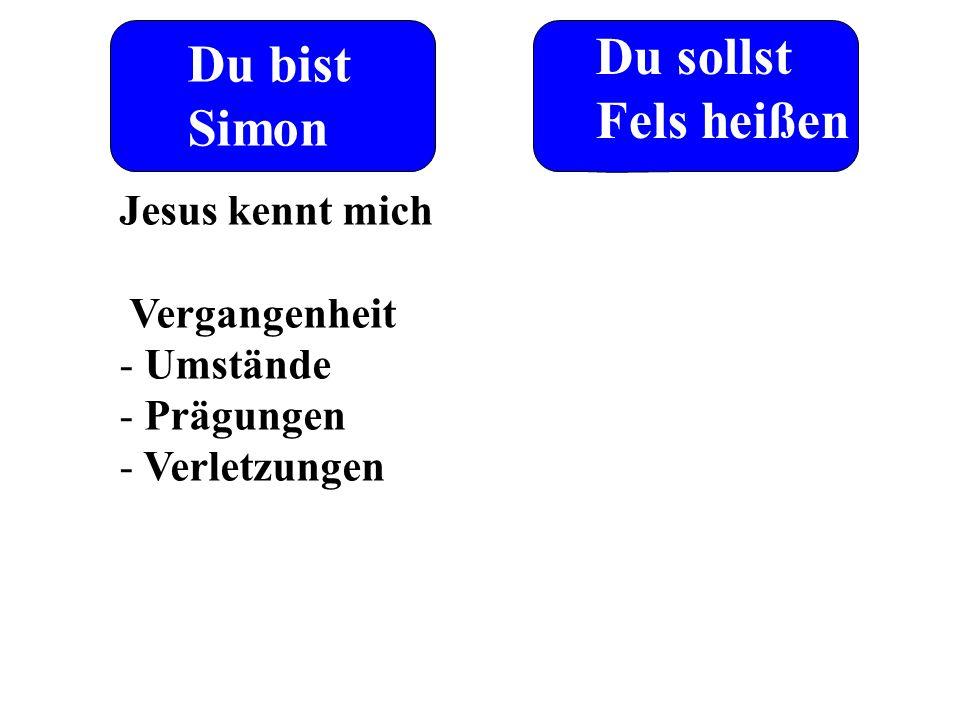 Du sollst Du bist Fels heißen Simon Jesus kennt mich Vergangenheit